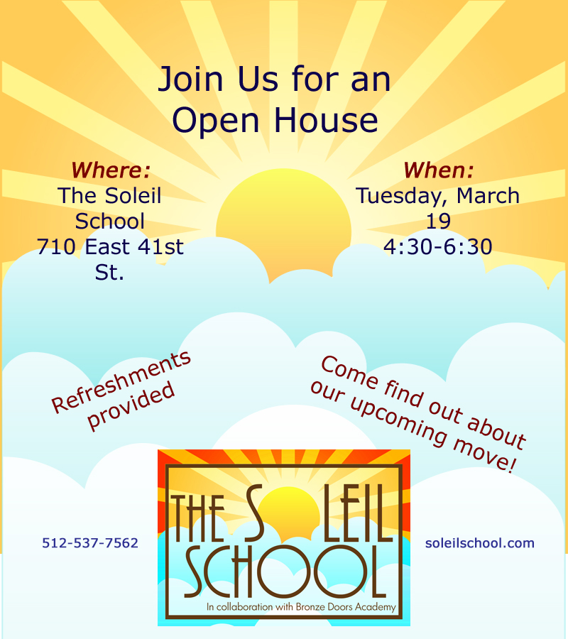 Open House, Tuesday March 19